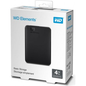 "Hard Disk Esterno  2,5"" 4TB Western Digital Wd Elements"