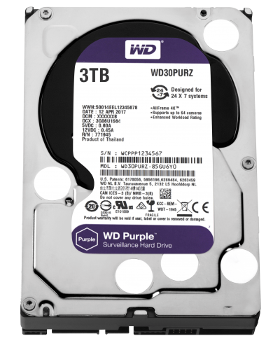 Hard Disk Interno 3TB Western Digital Purple