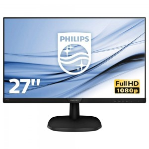 "Monitor 27"" Philips Full Hd Led Hdmi Dvi 273V7QDAB Audio Integrato"