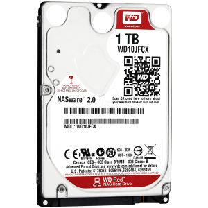 "Hard Disk Interno 1TB Western Digital Red 2,5"" WD10JFCX"